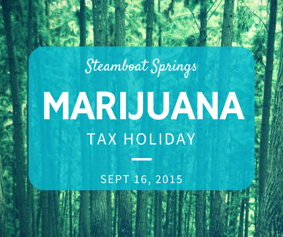 Marijuana Tax Holiday 2015 FB