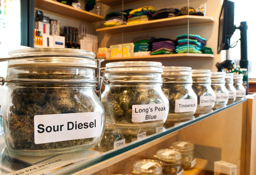 Rocky Mountain Remedies Recreational marijuana jars